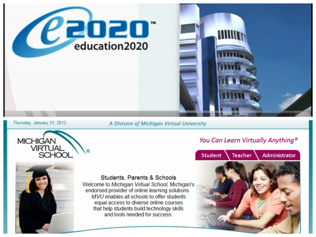 the alternate class breakdown part e and michigan virtual get smart students take online courses through michigan virtual high school and e2020 these