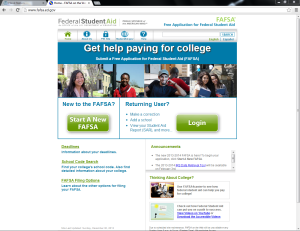 Quick and easy: The FAFSA form is simple but tedious to file. It has been available online, free of charge, for several years now. Image from fafsa.ed.gov.
