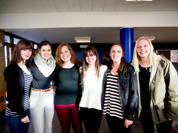 Having friends: People who are there for you and help you. Megan Grattan '14easily found a lot of new friends.
