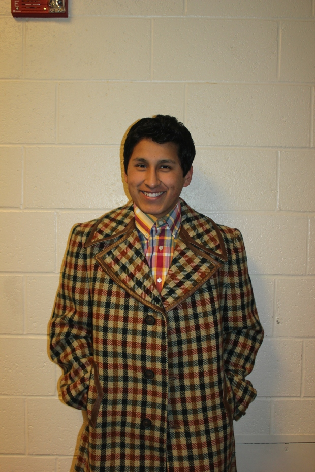 Fifties Swing: Alex Hughes '14 is bringing back the fifties with his stunning plaid jacket. He wore it loud and proud all day.