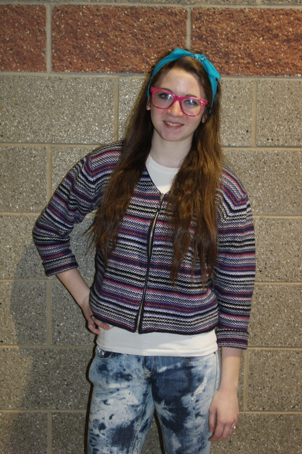 Hipsta Chic: Alisha Irwin '13 rocks her inner hipster on thrift shop day. She showed her class spirit.