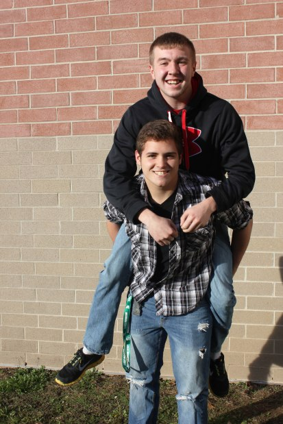 Best friends forever: Jason Vietti '13 and Cody Anes '13 can laugh together about everything. They met each other six years ago.